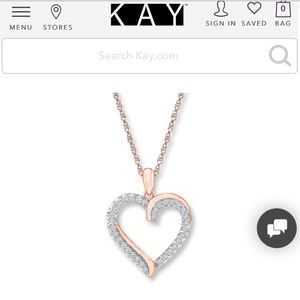 KAY JEWELERS diamond and heart necklace